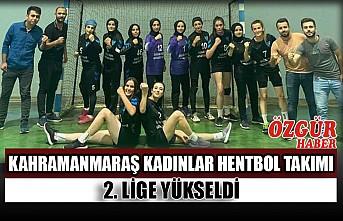 Kahramanmaraş Kadınlar Hentbol Takımı 2. Lige Yükseldi