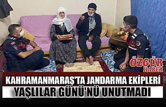 Kahramanmaraş'ta Jandarma Ekipleri Yaşlılar Günü'nü Unutmadı