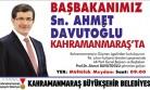 Başbakan Davutoğlu Kahramanmaraş'a Geliyor