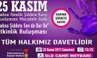 Büyükşehir'den 'Kadına Şiddete Sen de Dur De' Etkinliği