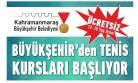 Büyükşehir'den Tenis Kursları