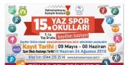 Yaz Spor Okulları 29 Haziran'da