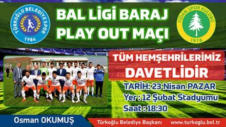 Türkoğlu Belediye Spor Maçına Davet