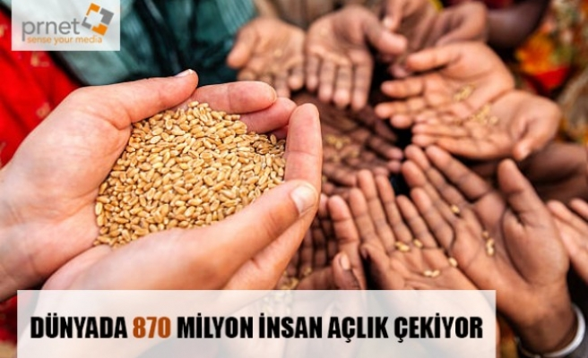 Dünyada 870 Milyon İnsan Açlık Çekiyor