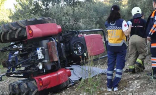 Traktör İle Römork Arasında Sıkışan Çiftçi Öldü
