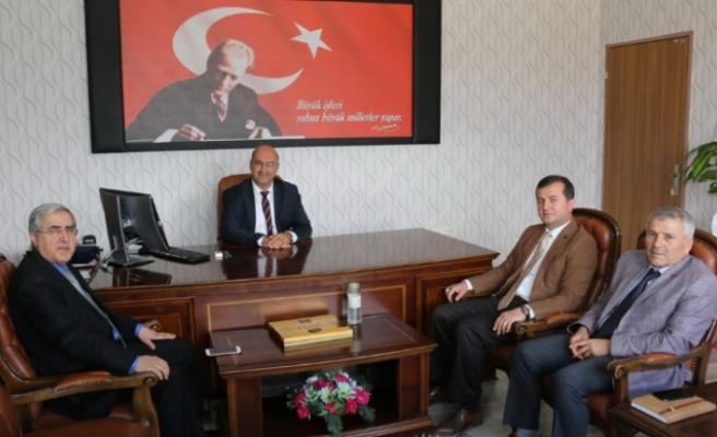 KSÜ Rektörü Can; Pazarcık Kaymakamı Nas ve Başkan Bozdağ'ı Ziyaret Etti