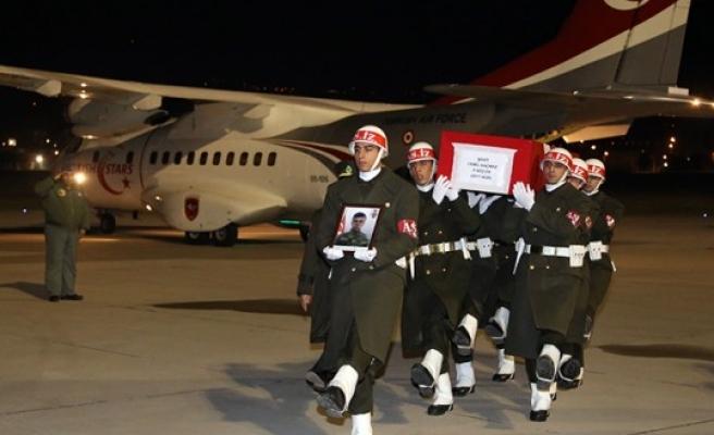 Şehit Kaçmaz'ın Naaşı Kahramanmaraş'a Getirildi