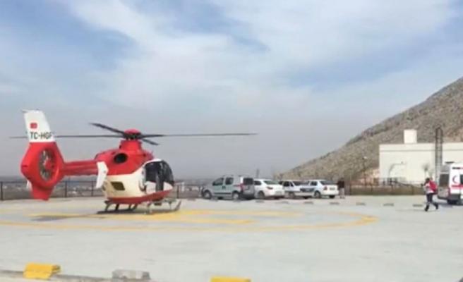 Ambulans Helikopter Beyin Ödemi Oluşan Kişi İçin Havalandı