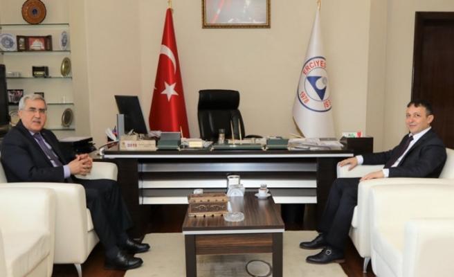 Rektör Can, Kayseri Erciyes Üniversitesi Rektörü Çalış'ı Ziyaret Etti