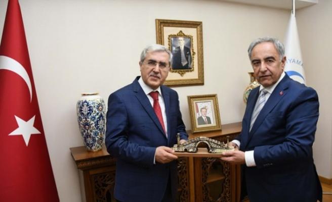 KSÜ Rektörü Can, ADYÜ Rektörü Turgut'a 'Hayırlı Olsun' Ziyareti Gerçekleştirdi