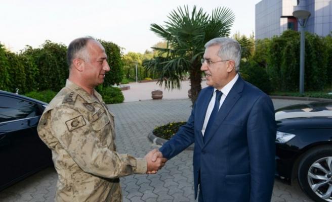 Kahramanmaraş İl Jandarma Komutanı KSÜ'yü Ziyaret Etti