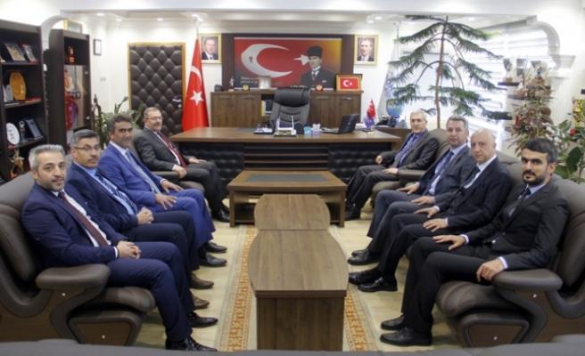 KSÜ Rektörü Can, Başkan Aydın'ı Ziyaret Etti