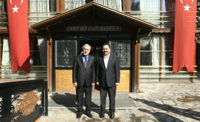 KSÜ Rektörü Can, Elbistan Belediye Başkanını Ziyaret Etti