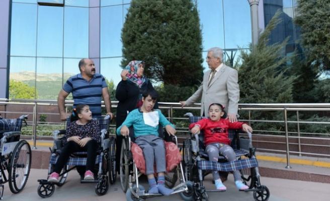 KSÜ'de Toplanan Mavi Kapaklar Engellilere Umut Oldu