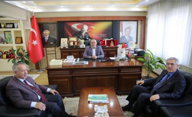 Rektör Can, Afşin Belediye Başkanı Güven'i Ziyaret Etti