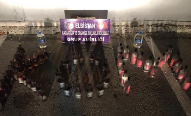 Elbistan'da Kaçak İçki Operasyonu