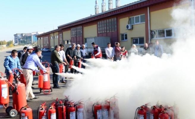 KSÜ'de Yangın Tatbikatları Başarıyla Gerçekleştirildi