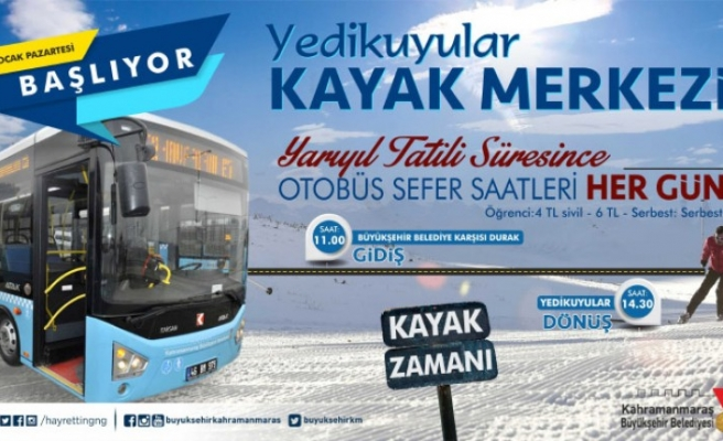 Yarıyıl Tatilinde Yedikuyulara Otobüs Seferleri Başlıyor