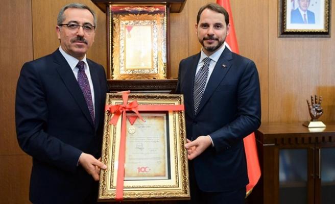 Başkan Güngör'den Bakan Albayrak'a İstiklal Madalyası Beratı