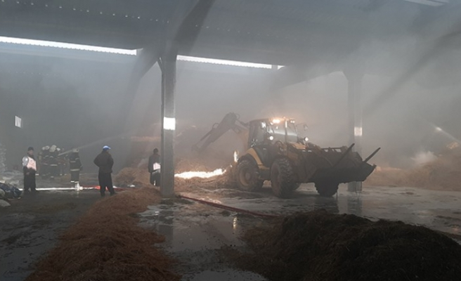 Türkoğlu'nda Çiftlik Yangını