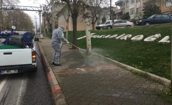 Kahramanmaraş Köşe Bucak Dezenfekte Ediliyor