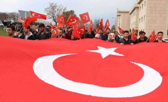 Kahramanmaraş'ta Mehmetçiğe Destek Yürüyüşü