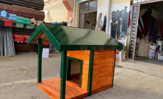 Büyükşehir Belediyesi Köpek Evleri Montajına Devam Ediyor