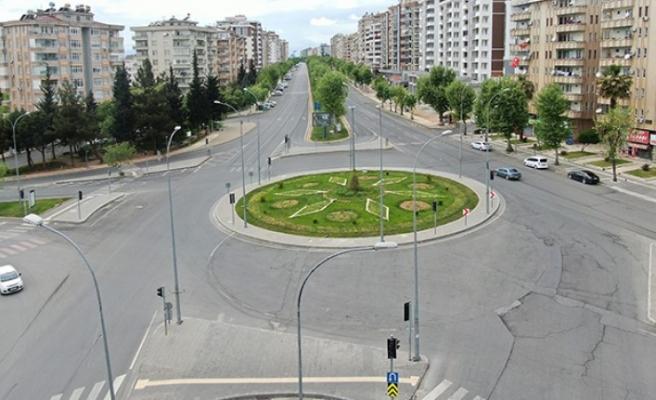 Kahramanmaraş'ta Boşalan Cadde ve Sokaklar Drone İle Görüntüledi