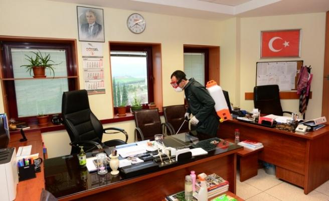 KSÜ'de Dezenfekte Çalışmaları Aralıksız Sürüyor