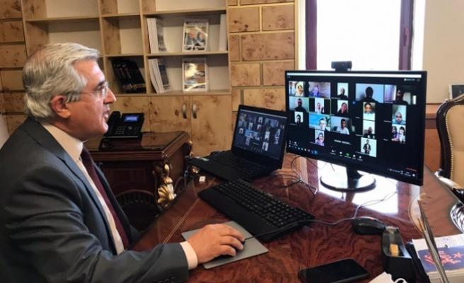 Rektör Can, KSÜ'de Eğitim Gören Yabancı Uyruklu Öğrencilerle Video Konferansla Bir Araya Geldi