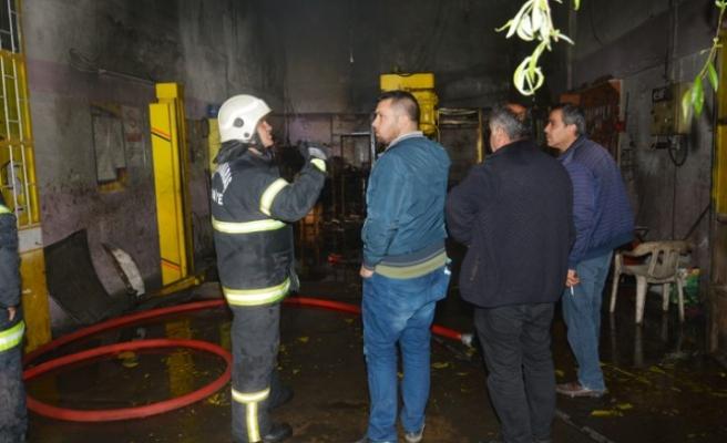 Elbistan'da İş Yerinde Yangın