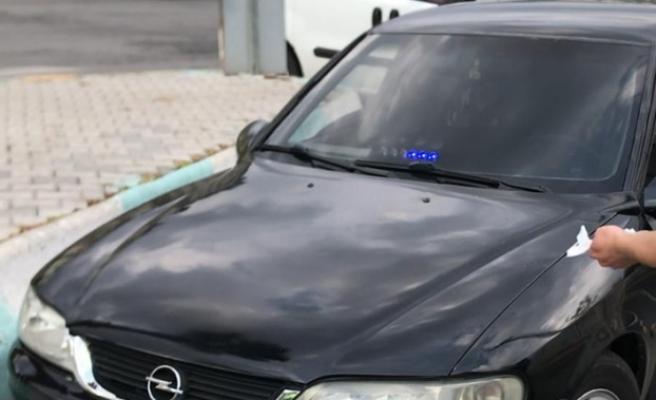 Kahramanmaraş'ta Yetkisiz Çakar Kullanan Sürücüye Para Cezası