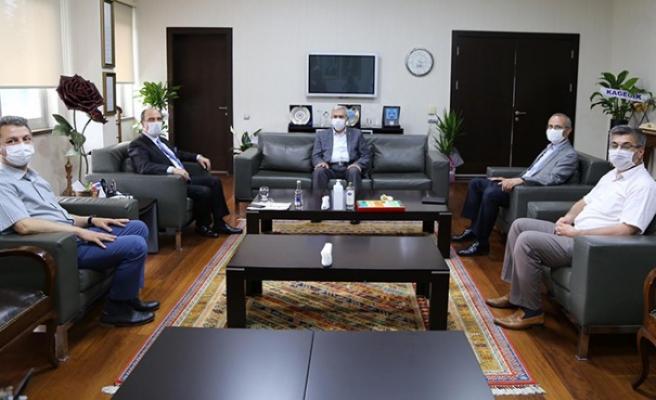 Rektör Can'dan, Başkan Balcıoğlu'na Hayırlı Olsun Ziyareti