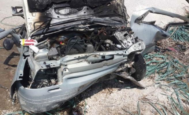 Feci Kaza! Otomobil Yandı 2 Ölü, 3 Yaralı