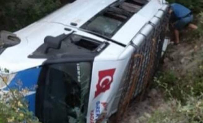 Kahramanmaraş'ta Yolcu Minibüsü Devrildi, Yaralılar Var