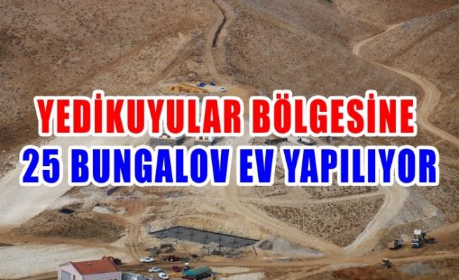 Yedikuyular Bölgesine 25 Bungalov Ev Yapılıyor