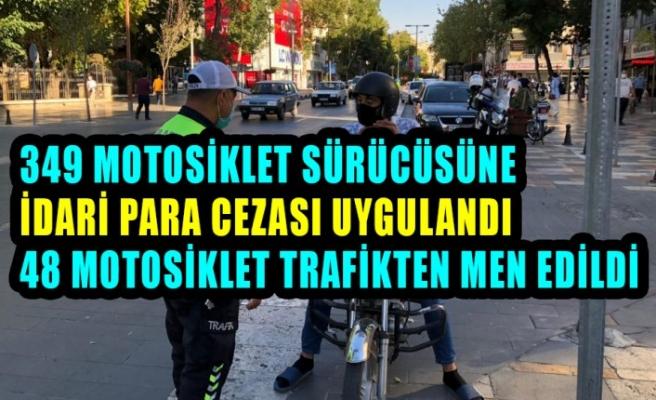 Kahramanmaraş'ta Motosiklet Denetimi Yapıldı