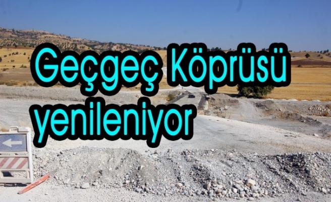 Pazarcık'ta Geçgeç Köprüsü Yenileniyor