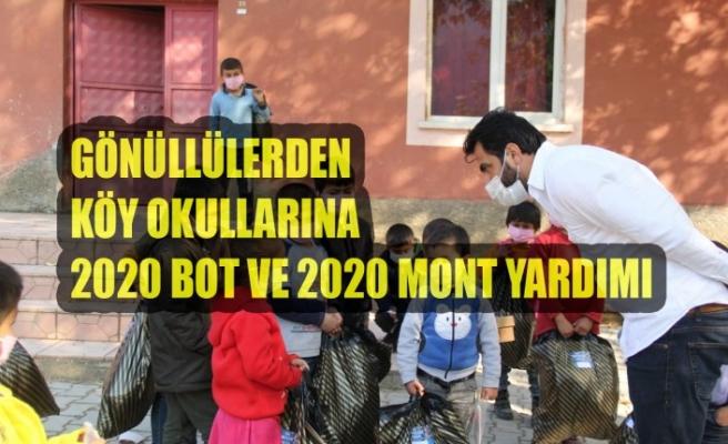 Gönüllülerden Köy Okullarına 2020 Bot ve 2020 Mont