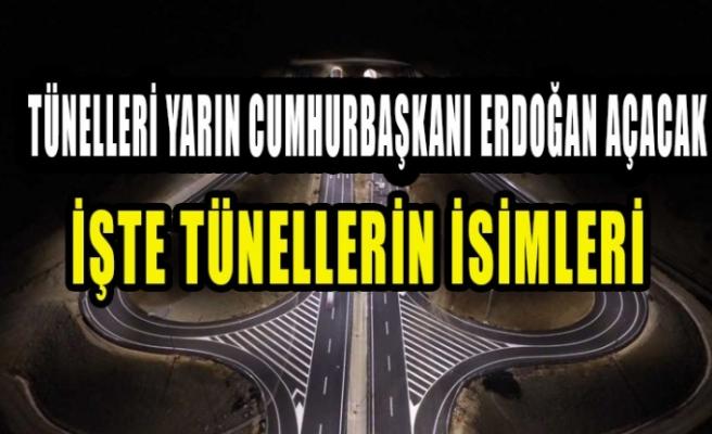 İşte Tünellerin İsimleri