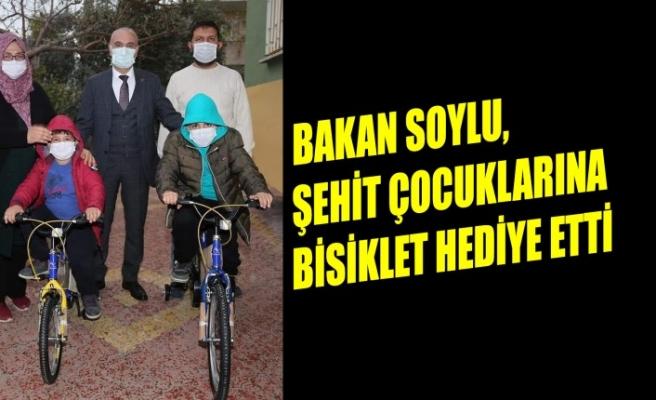 Bakan Soylu, Şehit Çocuklarına Bisiklet Hediye Etti