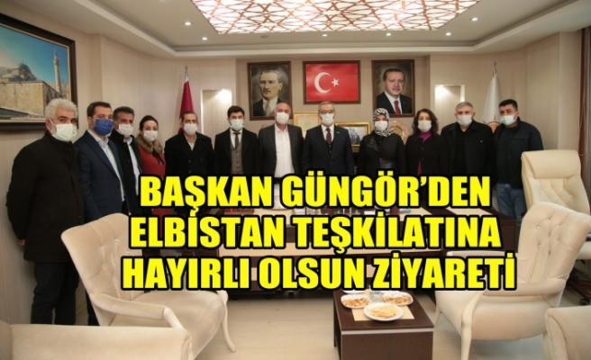 Başkan Güngör'den Elbistan Teşkilatına Hayırlı Olsun Ziyareti