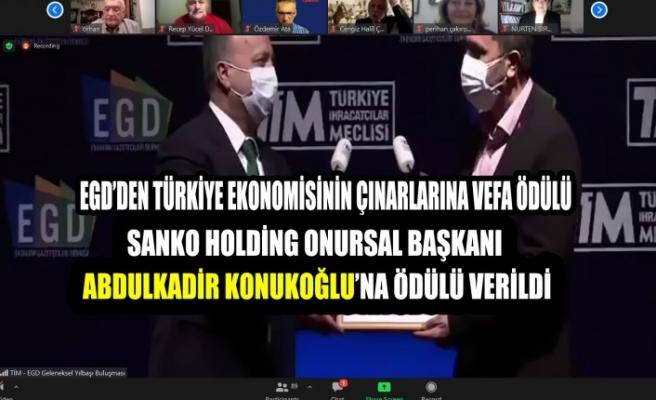 EGD'den Türkiye Ekonomisinin Çınarlarına Vefa Ödülü