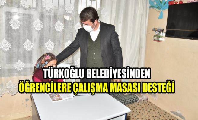 Türkoğlu Belediyesinden Öğrencilere Çalışma Masası Desteği