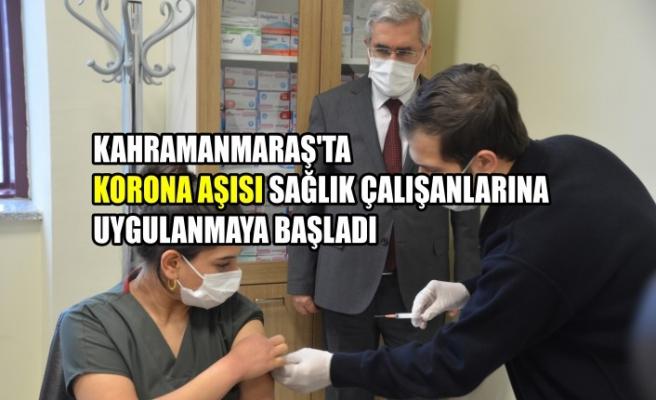 Kahramanmaraş'ta Korona Aşısı Sağlık Çalışanlarına Uygulanmaya Başladı