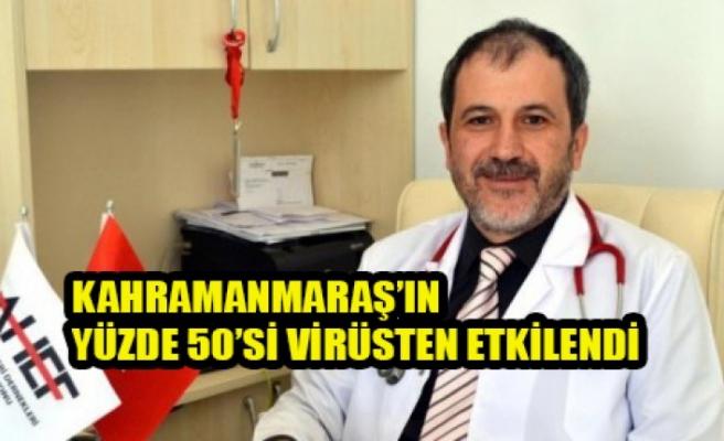 Kahramanmaraş'ın Yüzde 50'si Virüsten Etkilendi