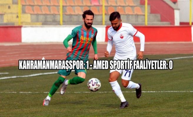Kahramanmaraşspor: 1 - Amed Sportif Faaliyetler: 0
