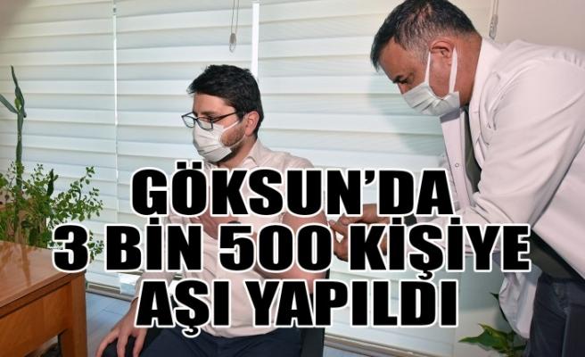 Göksun'da 3 Bin 500 Kişiye Aşı Yapıldı