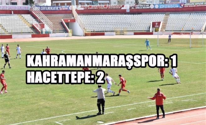 Kahramanmaraşspor: 1 Hacettepe: 2