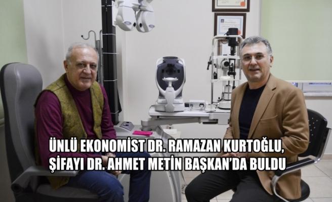 Ünlü Ekonomist Dr. Ramazan Kurtoğlu, Şifayı Dr. Ahmet Metin Başkan'da Buldu